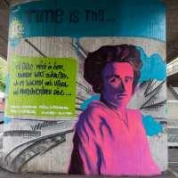 Frankfurt - Hommage von Bomber an Rosa Luxemburg in Ginnheim