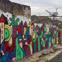 Graffiti in Offenbach 2017 - Hafengarten Wall