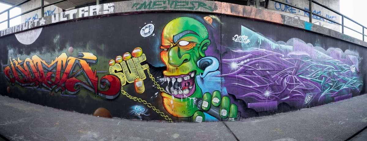 Frankfurt – Graffiti am Ratswegkreisel (90) Update Februar 2018