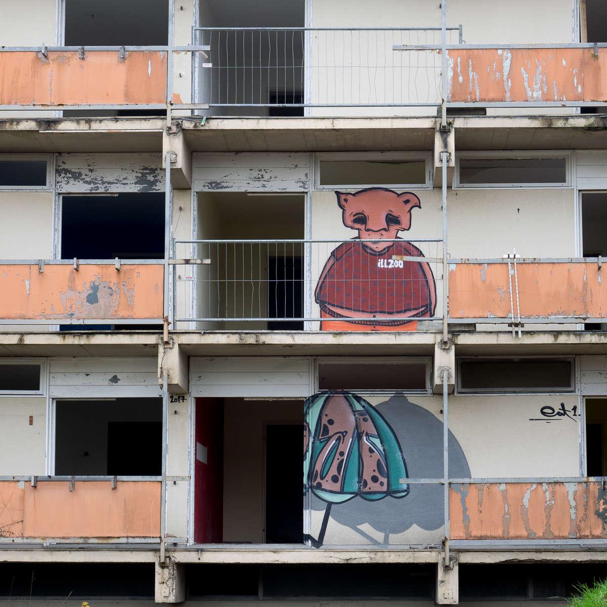 Ruheorte & Graffiti - Am Krankenhaus in Langen