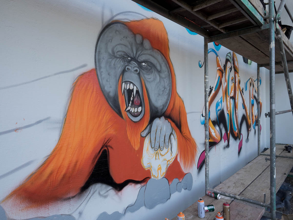 Graffiti in Frankfurt - Das Dreckige Dutzend Teil 2 in Ginnheim 2018 (Work in progress)