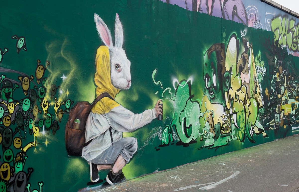 Frankfurt – Graffiti am Ratswegkreisel (92) Spring Wall Jam - Finals