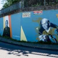 Graffiti in Raunheim 2018 - Mönche und mehr