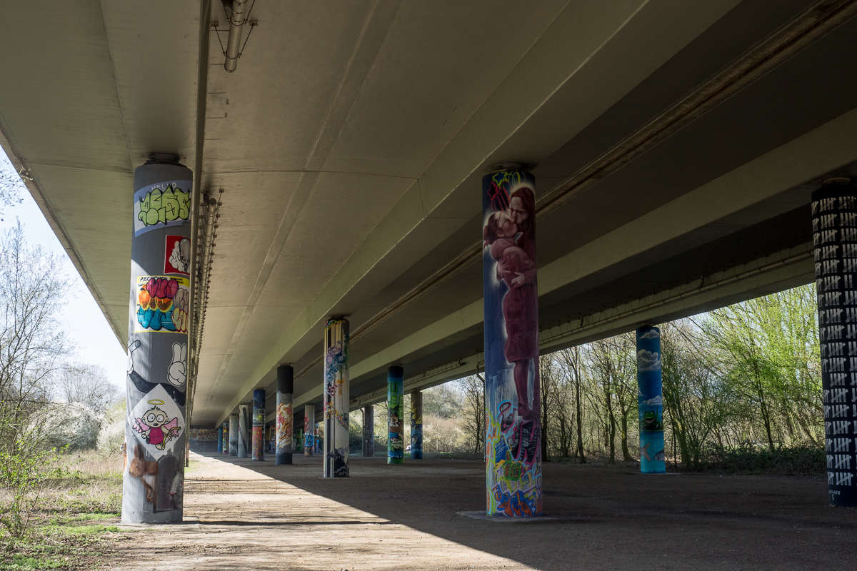 Graffiti in Frankfurt - Galerie im Niddapark (61 Bilder)