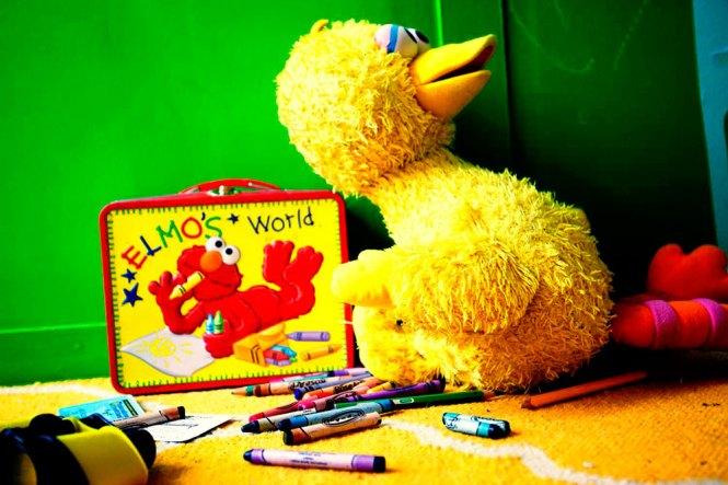 Big Bird and Elmo.