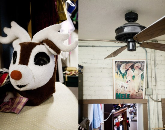 A fan to keep Rudolph nice and cool
