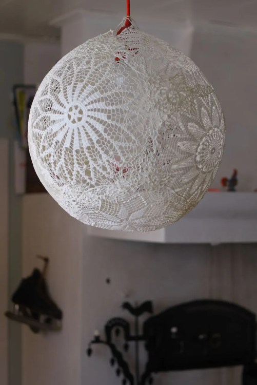 Lace Lamp Doiliy Lamp Diy Dos Family