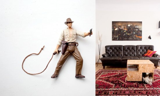 They have a handsome Indiana Jones toy and an even more handsome couch