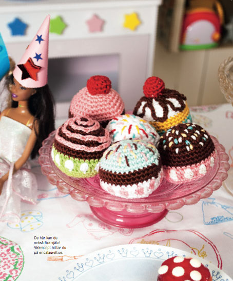 Crochet Cup Cakes From Erica Laurell Dos Family