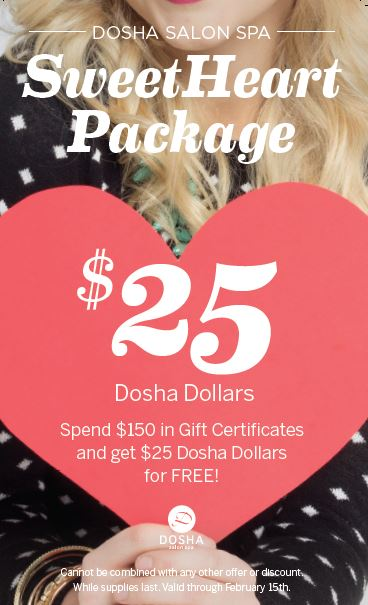 Valentines Day Sweethearts Dosha Salon Spa Portlands