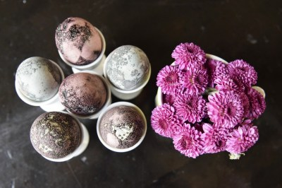 Hibiscus Tea-dyed Easter Eggs