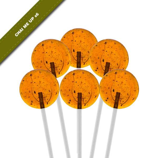 6-pack view of Dosha Pops' Chai Me Up lollipops
