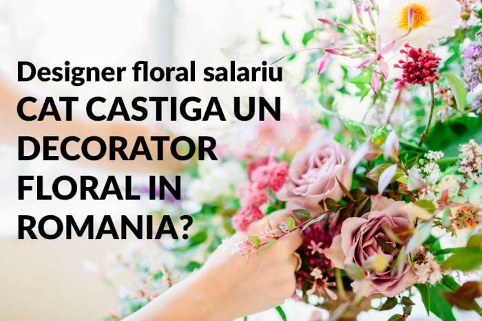 designer floral salariu, decorator floral salariu