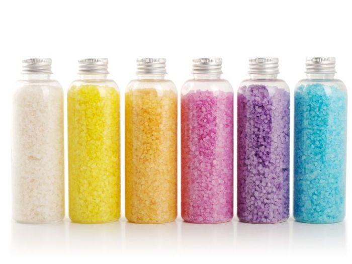 Как сделать цветную соль для декорирования