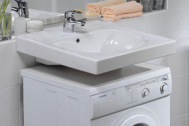 Почему не стоит устанавливать раковину над стиральной машиной