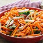 Как приготовить морковный салат с редисом