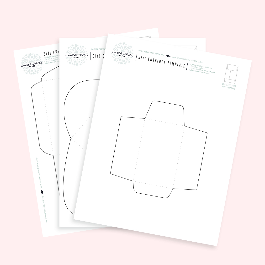 Diy envelopes with free printable templates for Free templates for envelopes to print