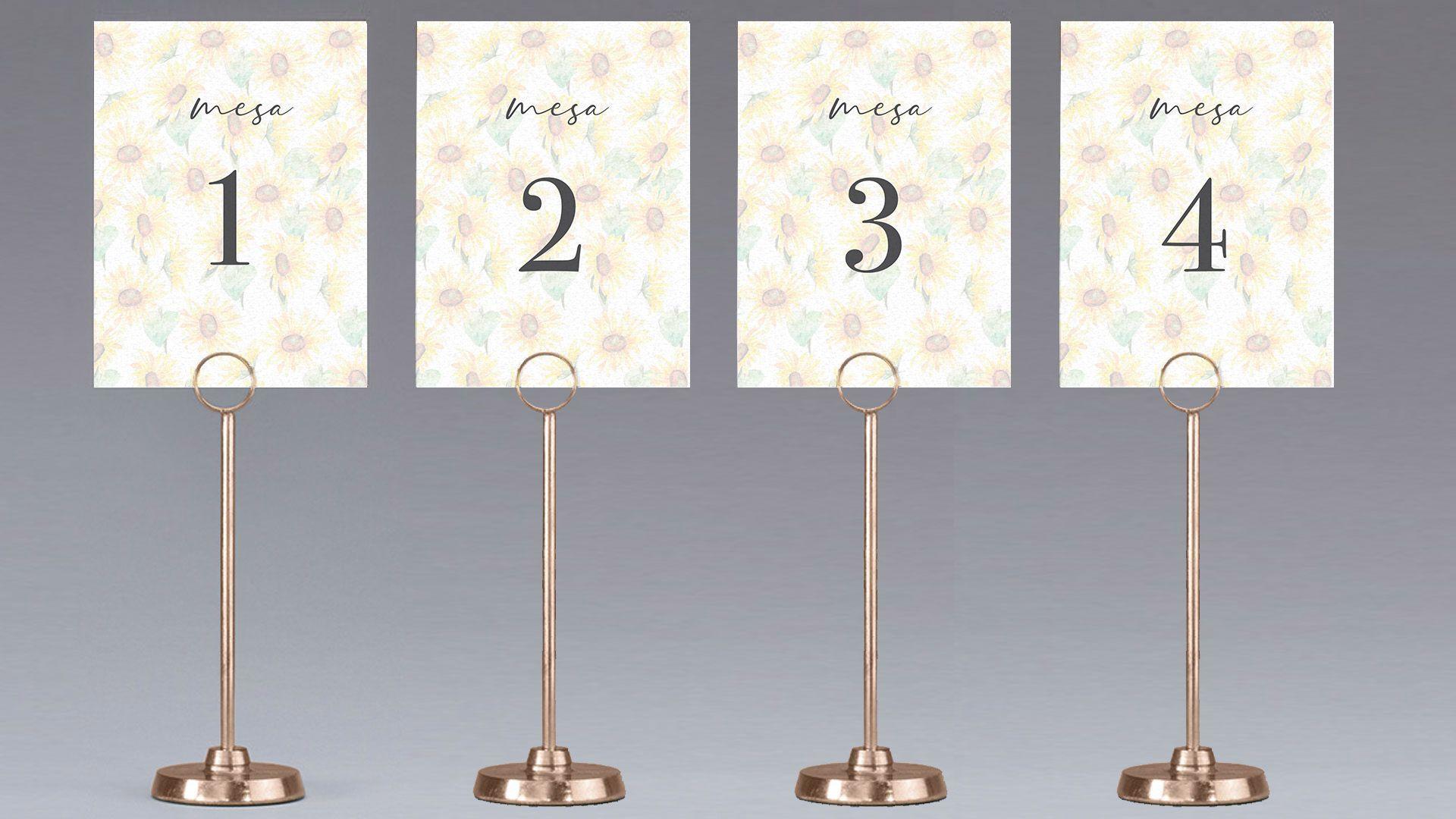 meseros girasoles flor boda mesa