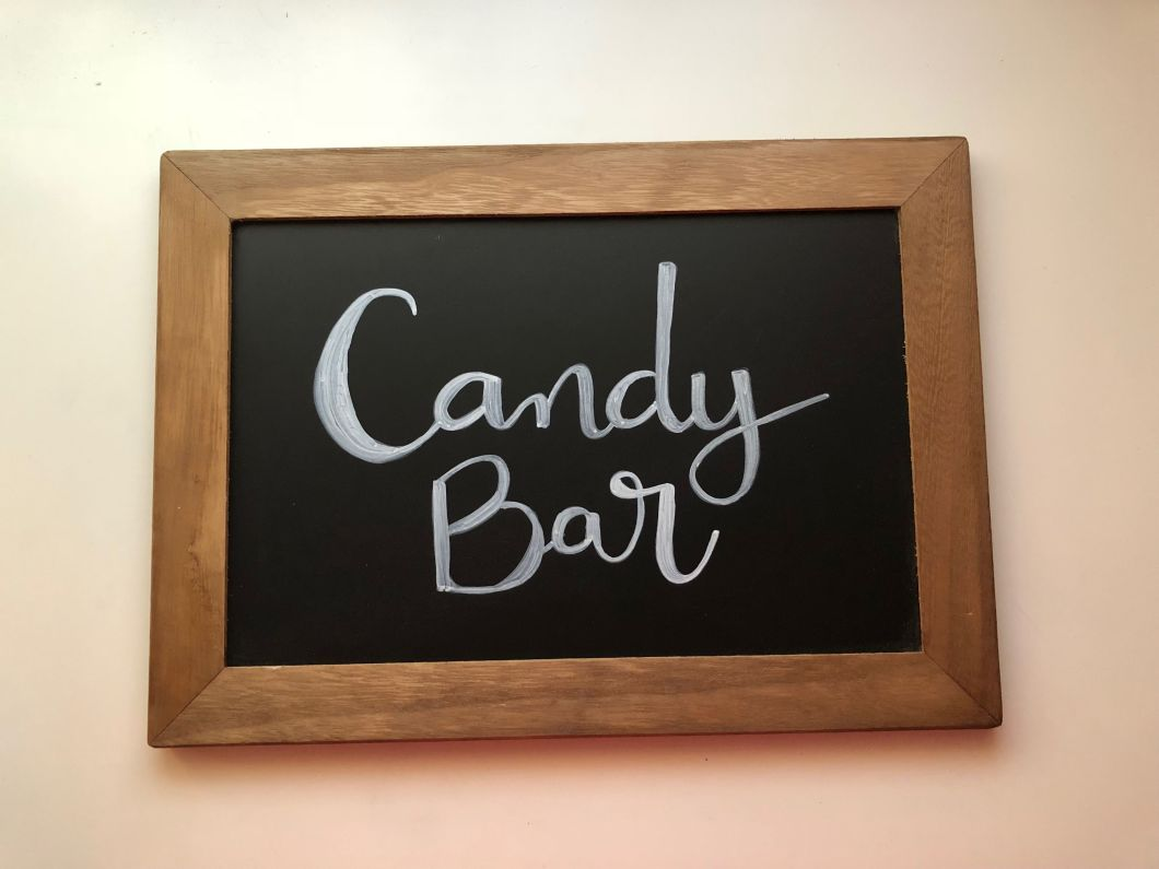 pizarras boda candy bar lettering a mano