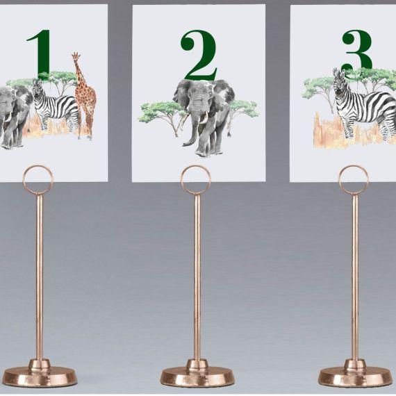 meseros boda africanos elefante cebra jirafa