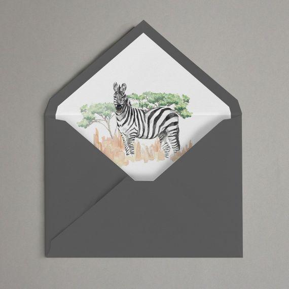 Sobre forrado zebra africa