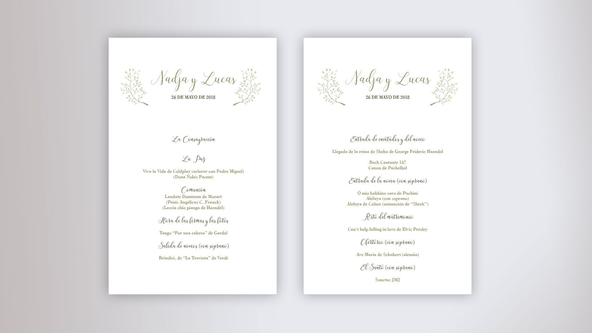 cancionero boda misa ceremonia