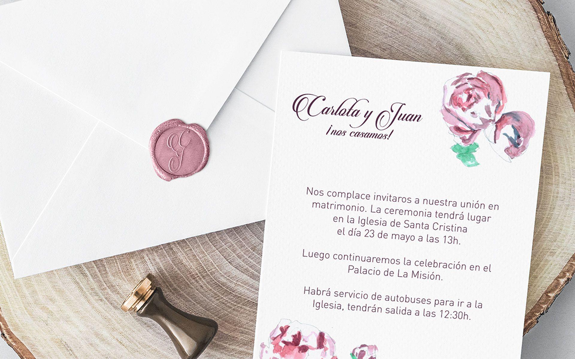 invitacion de boda unica dos terrones