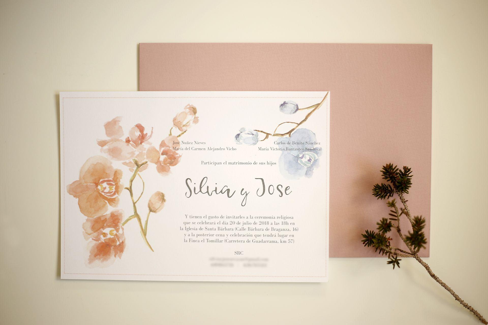 invitación de boda personalizada silvia de benito