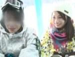 [マジックミラー号] スキー場に来ていたカップルの彼女があまりにも可愛いので彼氏を外で待たせてハメました