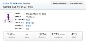 walk record