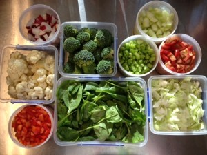 Controlling my space! Food prepping helps me in making healthy choices.