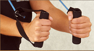 resistance bands, upper body weight exercise