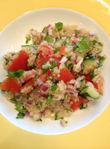 quinoa salad, workouts, weight loss, healthy eating