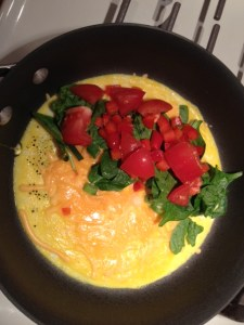 simple start veggie omelet