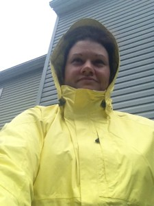 My bright yellow jacket is perfect for keeping me dry and cool on those hot, rainy days this summer. No more excuses for not running anymore!