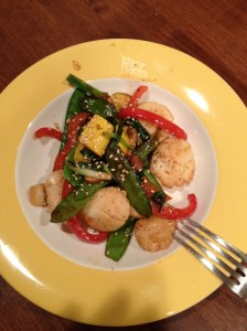 My scallop stir-fry came out wonderful. Great taste for something so easy to make.