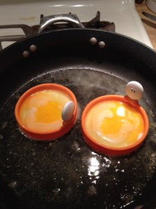 Egg rings...they are awesome. No kitchen should be without them. Word to the wise, I got these at Bed, Bath & Beyond for about 3 dollars less than what they go for on Amazon.