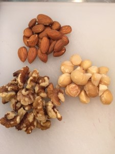 I spent part of the morning weighing nuts before bagging them into single portions. Nuts are a great, healthy snack but be careful about overdoing it!