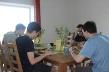 Vega players, during their TI5 bootcamp