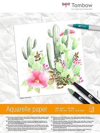 papier-aquarelle-bloc-Tombow