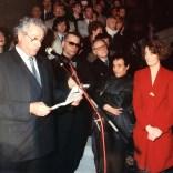 photo DR – Robert P.Vigouroux, Karl Lagarfeld, Pierre Bergé, Azzedine Alaïa et Maryline Bellieud-Vigouroux