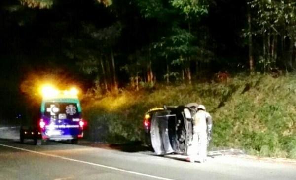 Imagen del accidente de ayer en Miota FOTO. Bomberos de Bizkaia