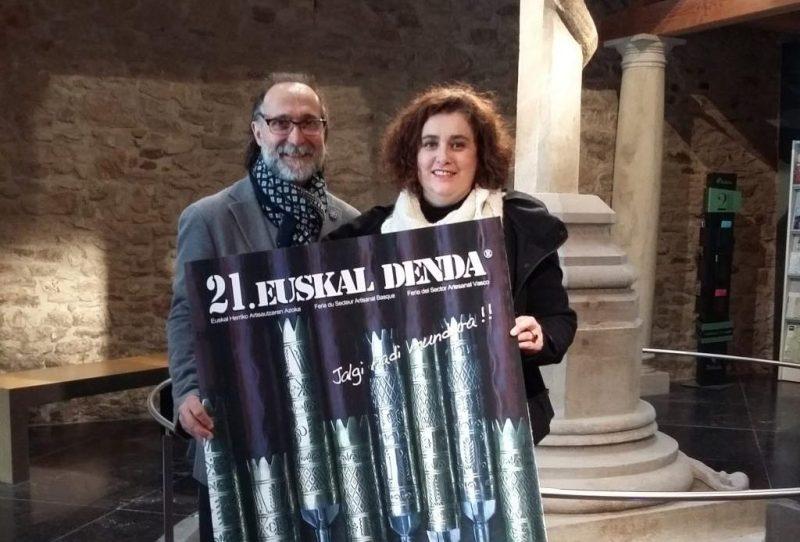 Bernat Vidal y Olatz Pujana en la presentación de esta mañana
