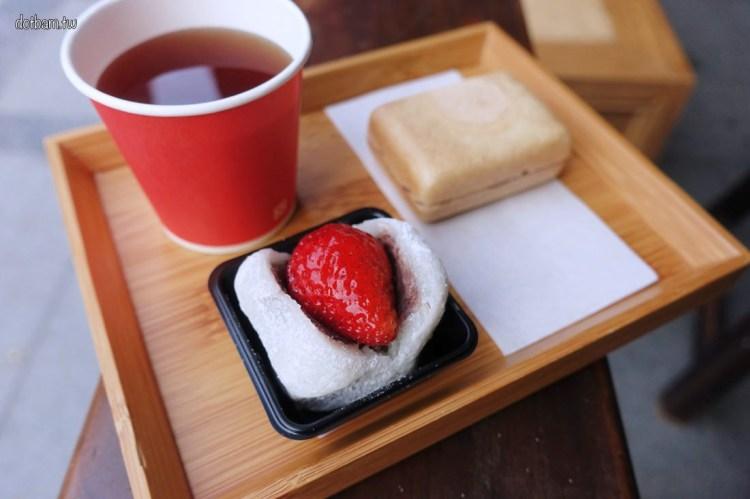 大稻埕美食/日式甜點|滋養製菓 現烤最中套餐及冬季限定草莓大福和果子