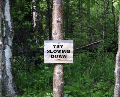 Try Slowing Down
