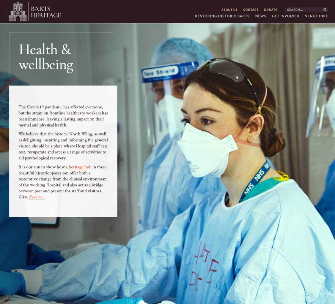 Health & wellbeing – Barts heritage website