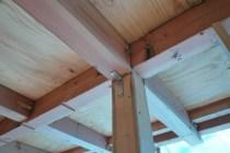 柱頭と柱脚部分を固定させるための金物