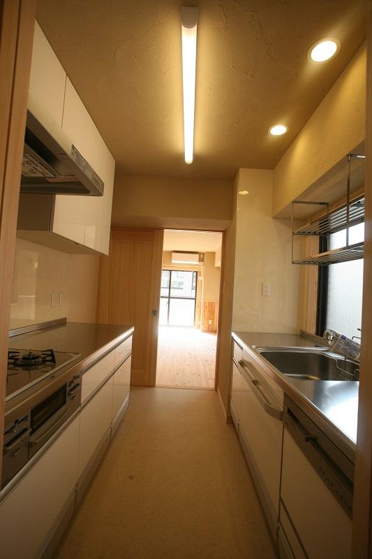 パラレル型のキッチン