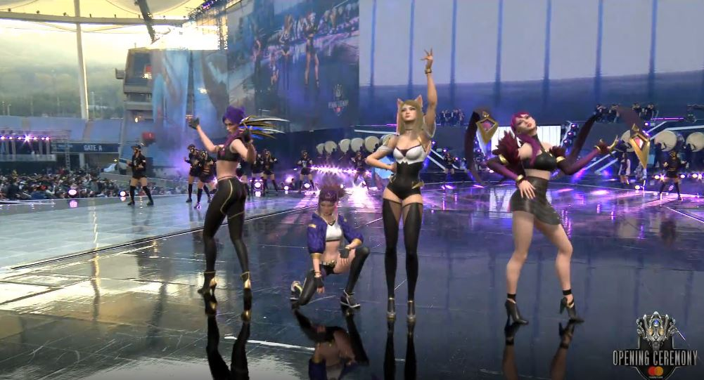 Riot Puts On An Augmented Reality K Pop Concert For Worlds