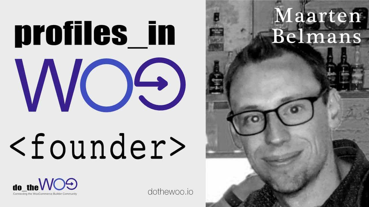 Profiles in Woo Maarten Belmans